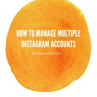 How to manage multiple instagram accounts from your phone - this is a game changer!