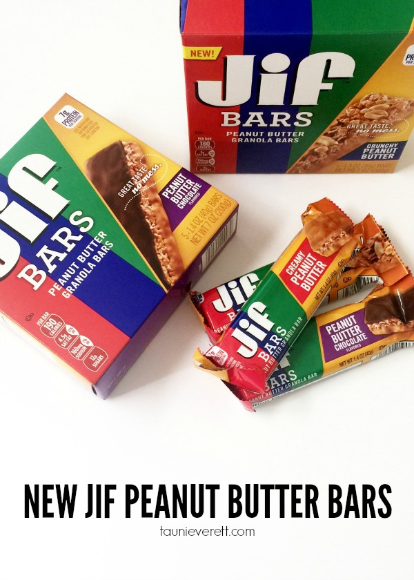 Love these new Jif Peanut Butter Bars. There are three flavors - creamy, crunchy and chocolate - and at 7-8 grams of protein per bar, they're a filling snack!