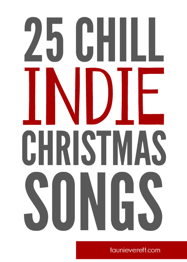I love this list of holiday songs. Lots of traditional songs with a different take.