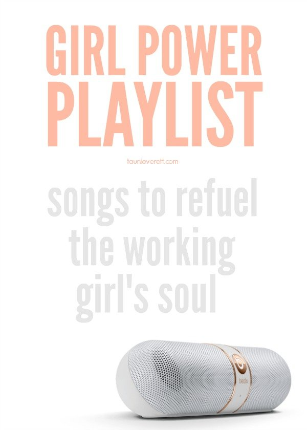 I love this playlist. It's full of great girl power songs that fire you up!