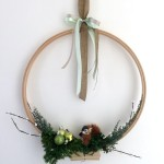 DIY Modern Holiday Wreath - I love the simplicity. Provides just a hint of holiday. Could be used other seasons too.