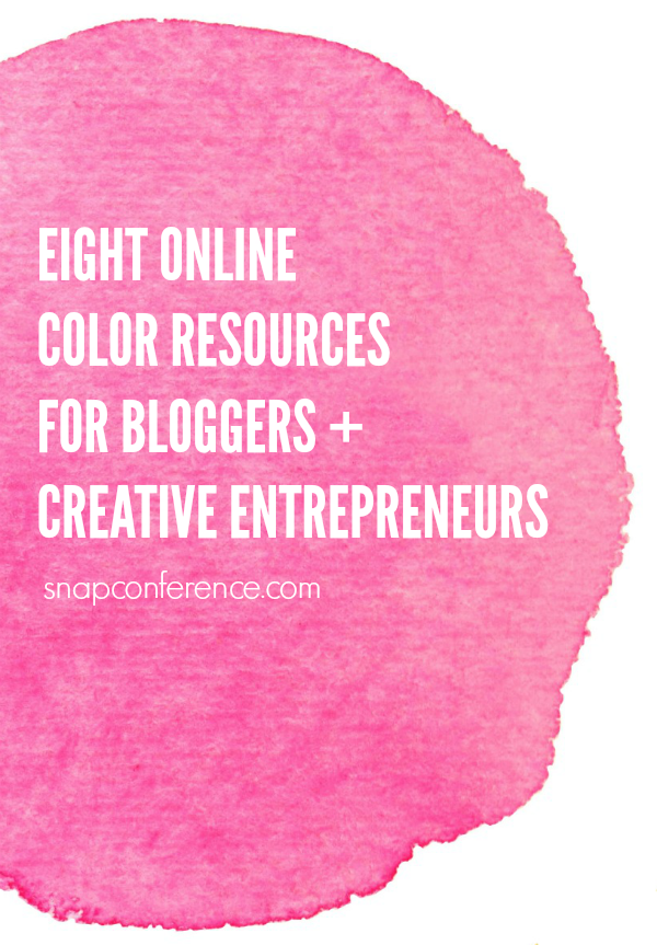 Eight online color resources for bloggers + creative entrepreneurs. Great for following color trends + serving as inspiration.