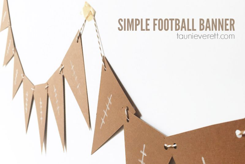 Simple Football Banner Feature 800