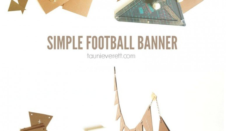 Simple 10 Minute Football Banner