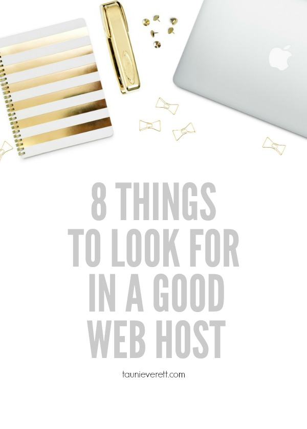 These tips for information on how to select a host are great to go through with your existing host or a new host.