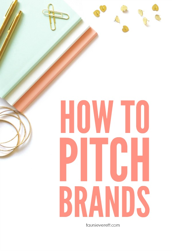 There are some great tips in this post for bloggers about how to pitch brands.