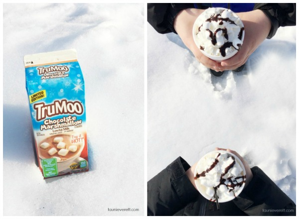 The secret to really, really good hot chocolate is milk.