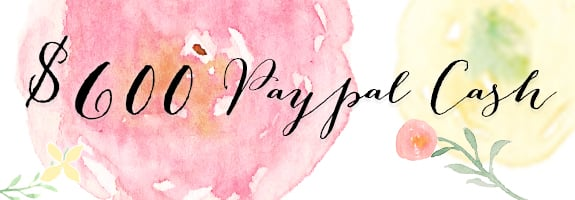 $600 Paypal Cash Giveaway - February 1st Giveaway!