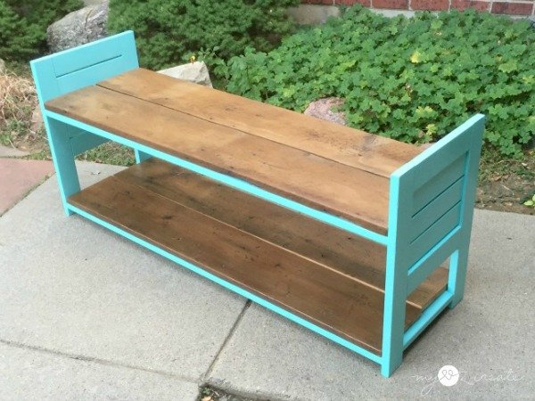 children's bench from other side, MyLove2Create