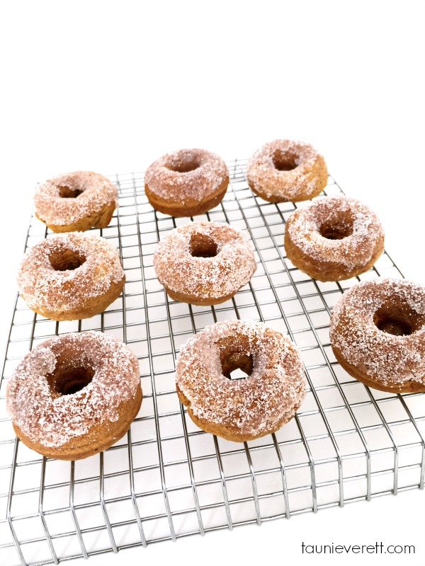 30 Minute Mini Pumpkin Donuts