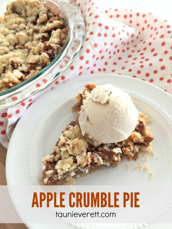 This apple crumble pie is the stuff dreams are made of. Make it once and your family will ask for it over and over. The best part? No messing with a difficult crust.