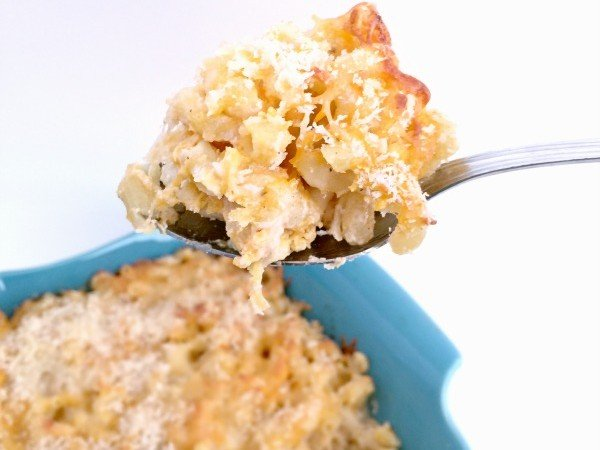 This oven baked macaroni and cheese is simple to make and serves as the PERFECT comfort dish for family members of all ages!