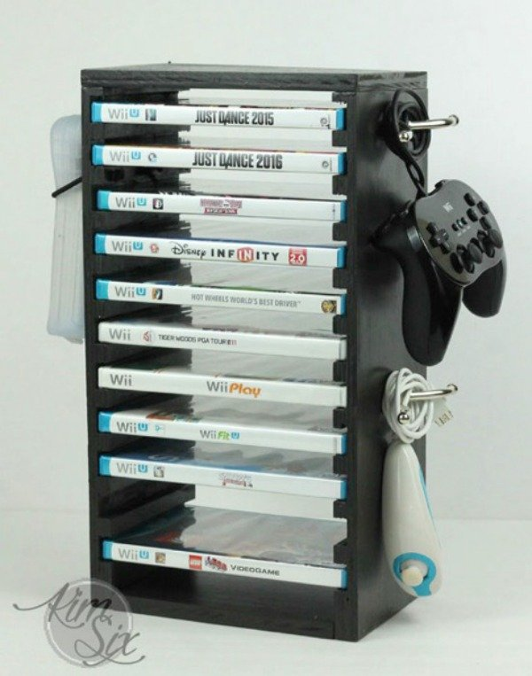 Wii games storage station
