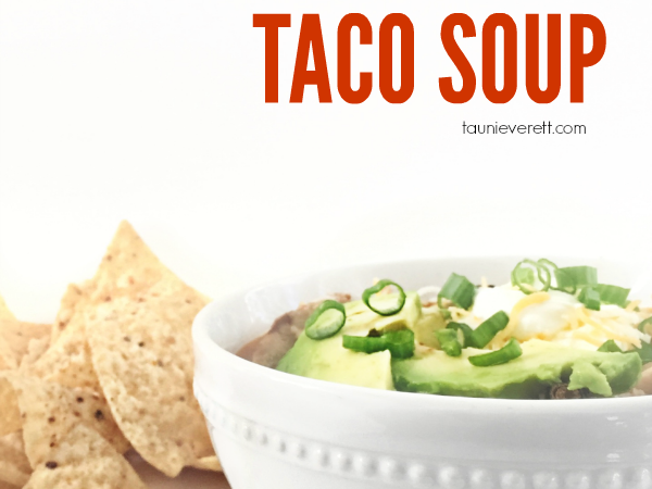 Quick + Easy Chicken Taco Soup