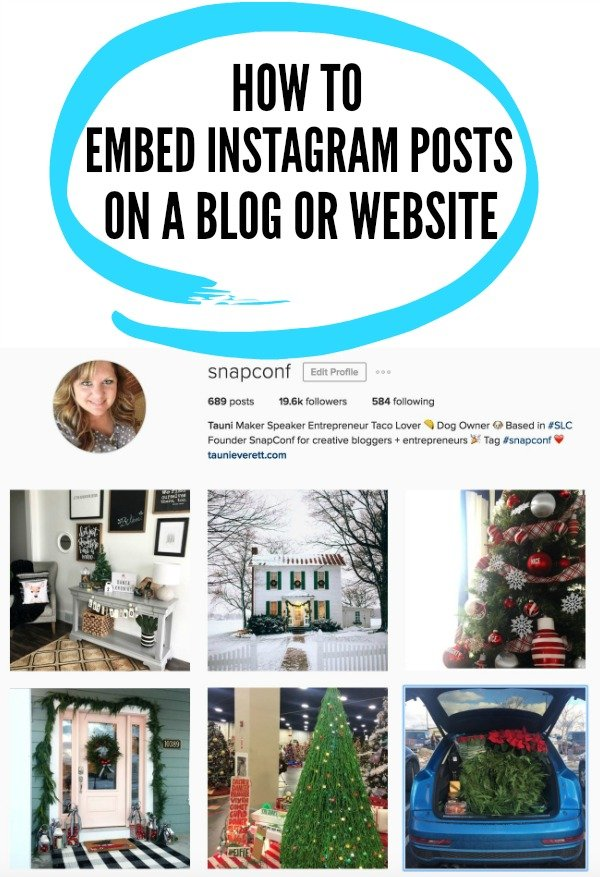 Learn how to embed an Instagram post onto your blog or website.