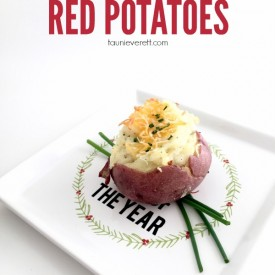 Tiny Twice Baked Red Potatoes