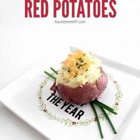 Tiny twice baked red potatoes hero