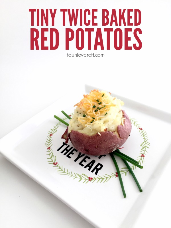 Tiny Twice Baked Red Potatoes. This is a great make ahead recipe for busy weeknights. It's also fancy enough to pass for holiday parties and events.