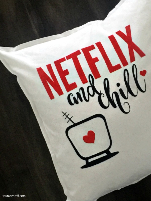 Cheeky Netflix and Chill Pillow