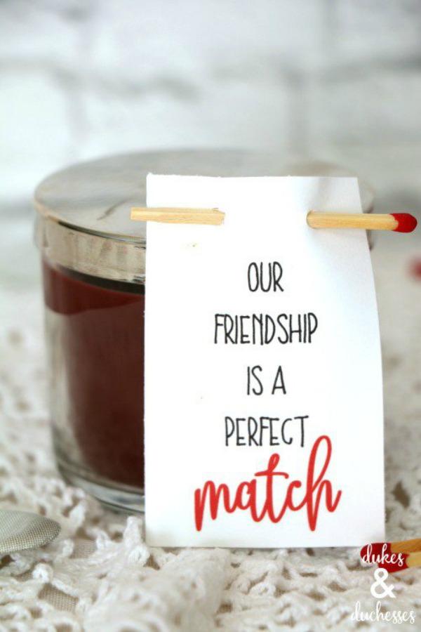 Perfect match friendship valentine
