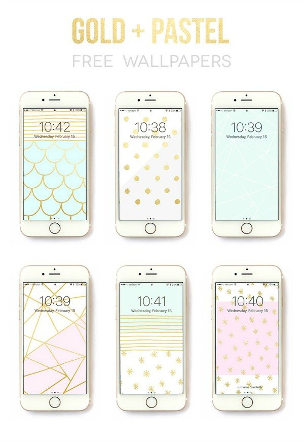 6-free-iphone-wallpaper-designs-by-Rachel-Hinderliter-@linesacross-gold-and-pastel
