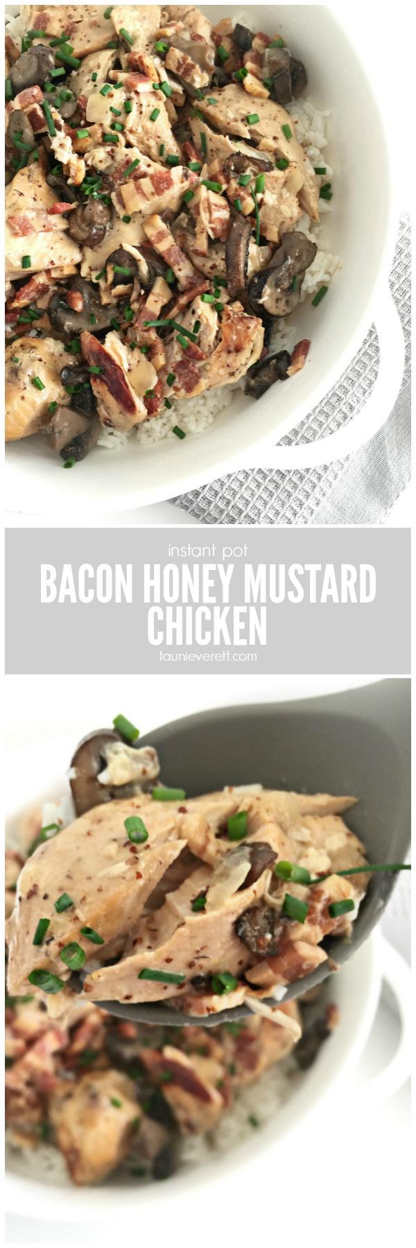 Instant Pot Bacon Honey Mustard Chicken
