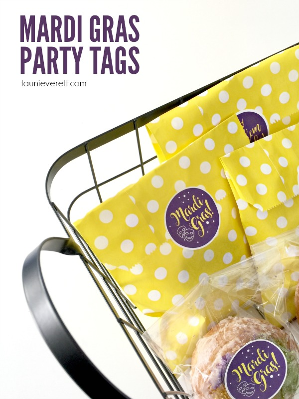 Seal up your Fat Tuesday goodie bags with these fun Mardi Gras Party Tags