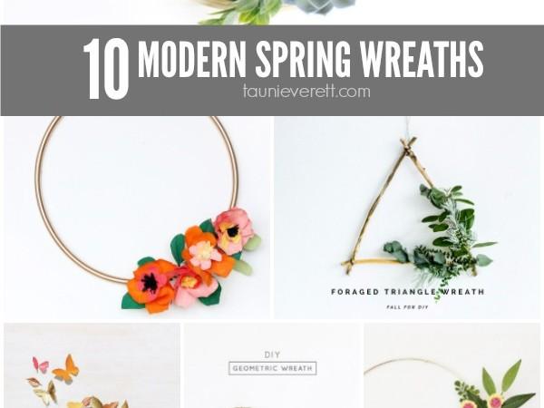 10 Modern Spring Wreaths