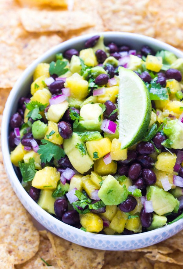 Pineapple, Avocado and Black Bean Salsa plus eight great Cajun recipes to celebrate Mardi Gras
