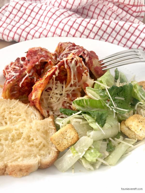 Sausage ricotta pasta bake 2