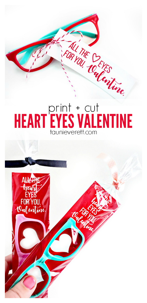FREE print and cut Heart Eyes Valentine's