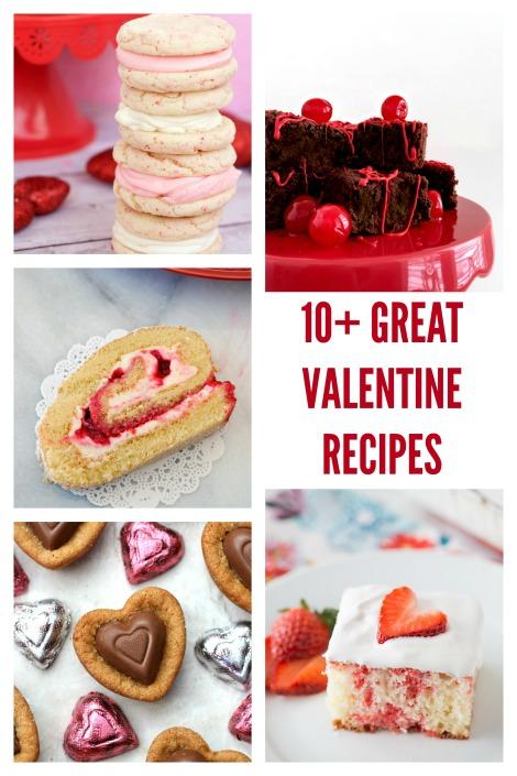 valentine recipes collage