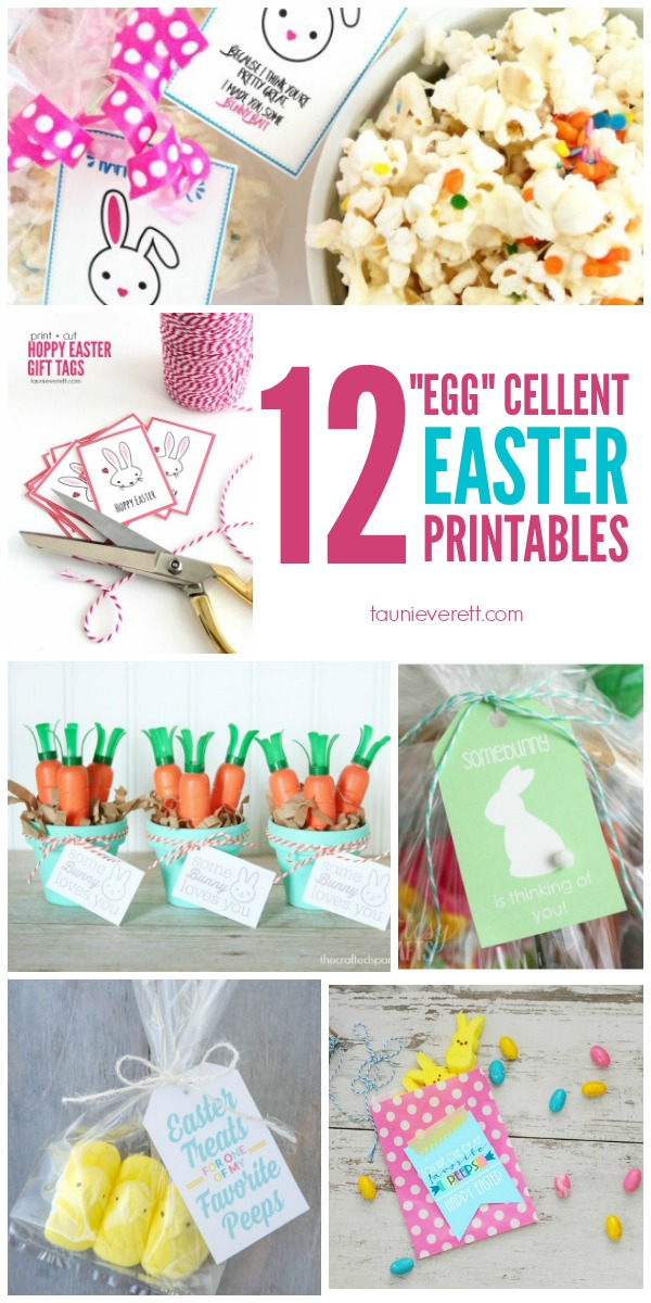 12 print and cut Easter files available for free! Easter Printables