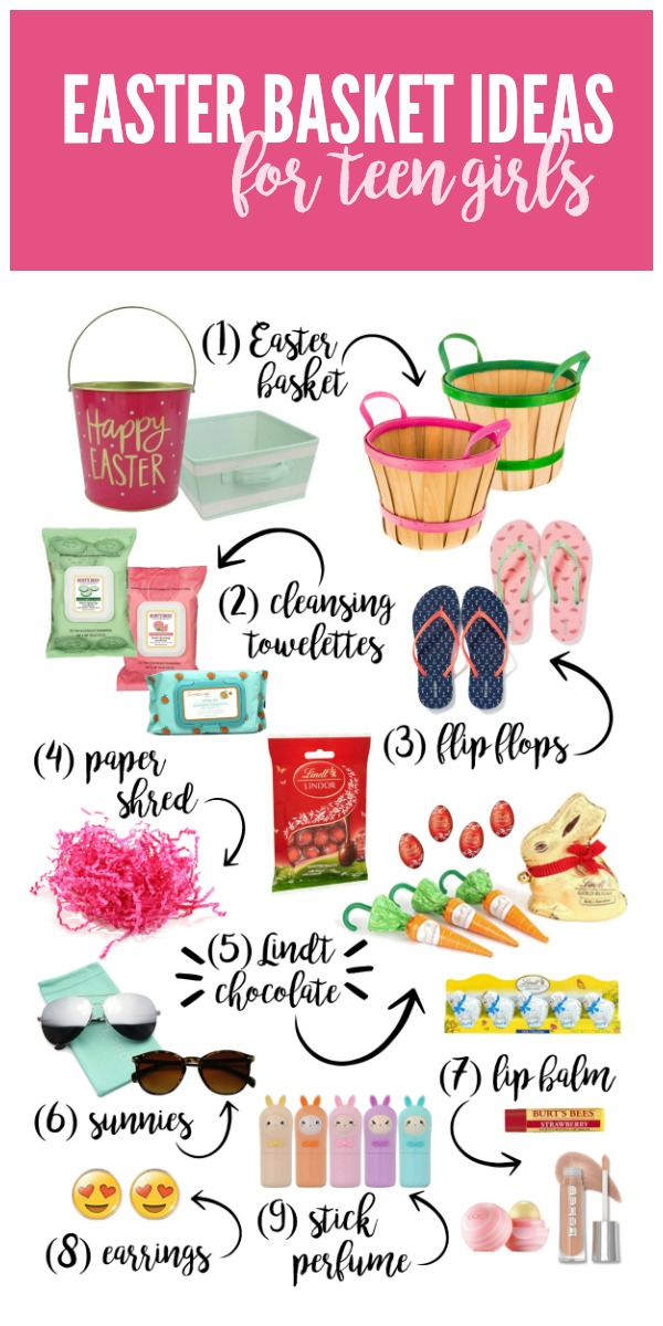 Preppy Easter Basket Ideas for Teen Girls