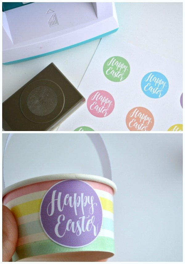 Mini Easter Baskets - great for small treats or as Easter place settings