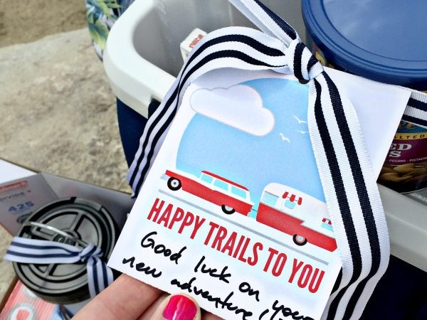 Retirement Gift Idea + Free Happy Trails Gift Tag