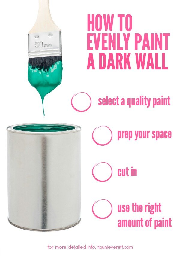 We're spilling all the secrets on how to paint a dark wall evenly.
