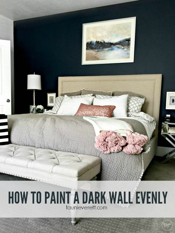 how to paint a dark wall evenly.