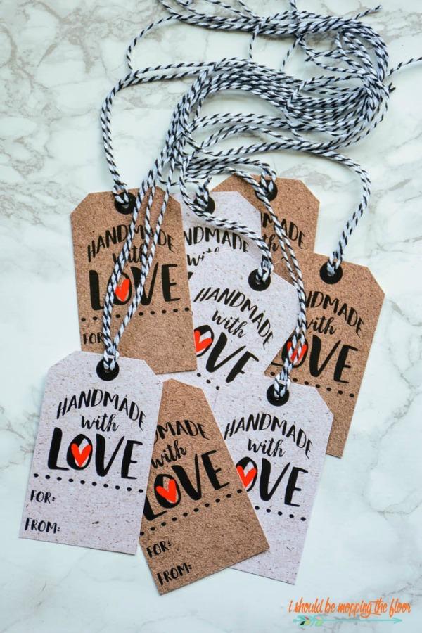 free handmade gift tag printables