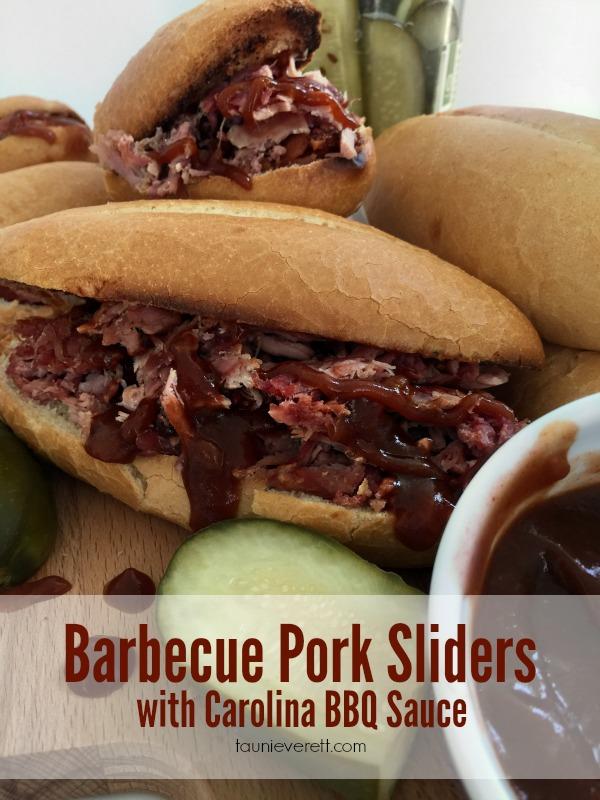 Barbecue Pork Sliders with Carolina BBQ Sauce