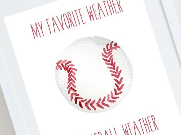 Baseball Weather Print Available for Free Download
