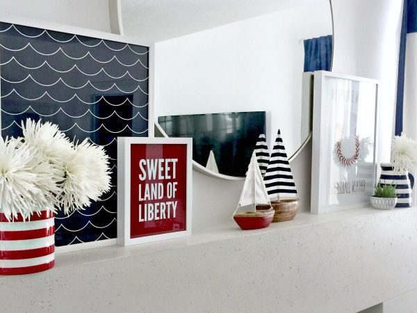 Fourth of July Mantle + Sweet Land of Liberty Print