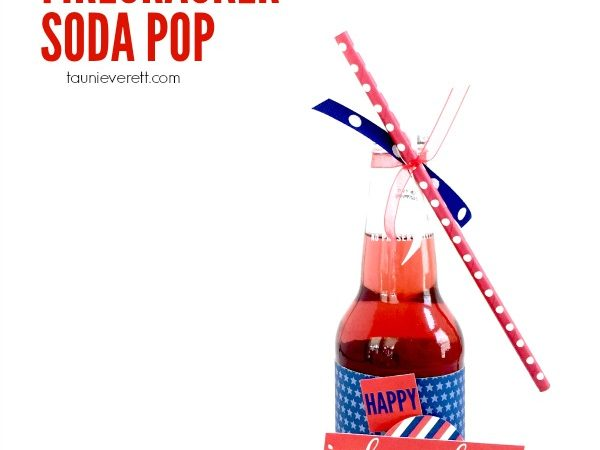 Fourth of July Firecracker Soda Pop with Free Print + Cut File