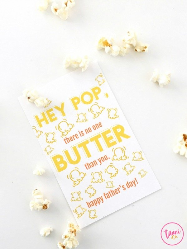 Free Punny Print and Cut Hey Pop Father's Day Gift Tag. Perfect last-minute Father's Day gift.