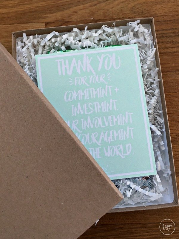 Sweet mint thank you gift. Perfect for teachers, neighbors, friends, etc.