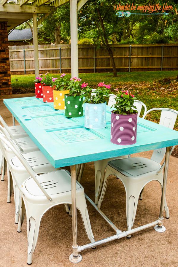 Rainbow patio table