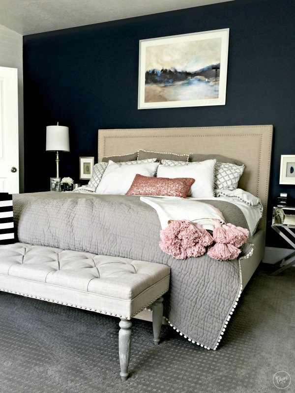 marvellous pink blue bedrooms jelanie | The Best Navy Blue Paint for Your Home | Tauni + Co