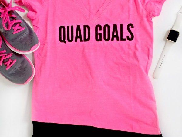 DIY Quad Goals T-Shirt and Free Cut File