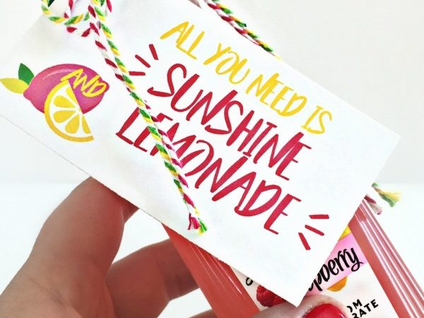 Free Print + Cut Sunshine and Lemonade Gift Tag