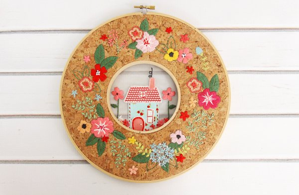 Floral home double hoop